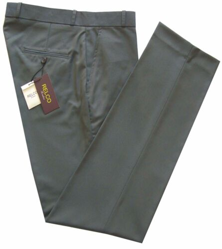 Men/'s Relco Tonic Stay Press Trousers Two Tone Sta Press Skins Mods Green Gold