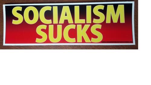 Socialism sucks political anti obama bumper sticker decal 219