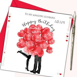 Image Is Loading Personalised Romantic Birthday Card Husband Wife Boyfriend Girlfriend