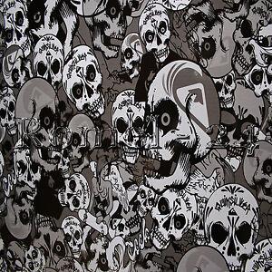 35 53 m stickerbombfolie autofolie skull schwarz wei. Black Bedroom Furniture Sets. Home Design Ideas