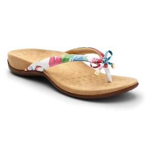 Vionic Bella - Women's Orthotic Sandals White Floral - 7 Medium