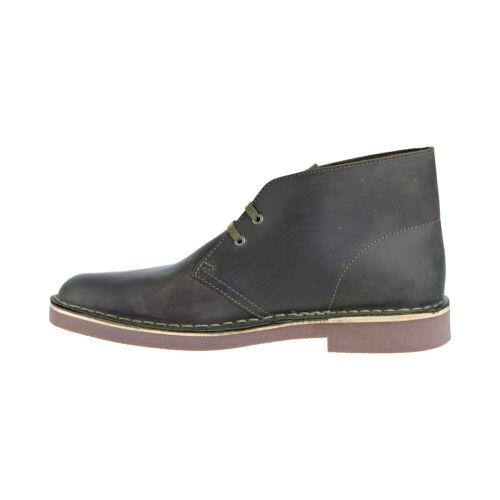 Clarks Bushacre 2 Men/'s Shoes Dark Olive Leather 26138382