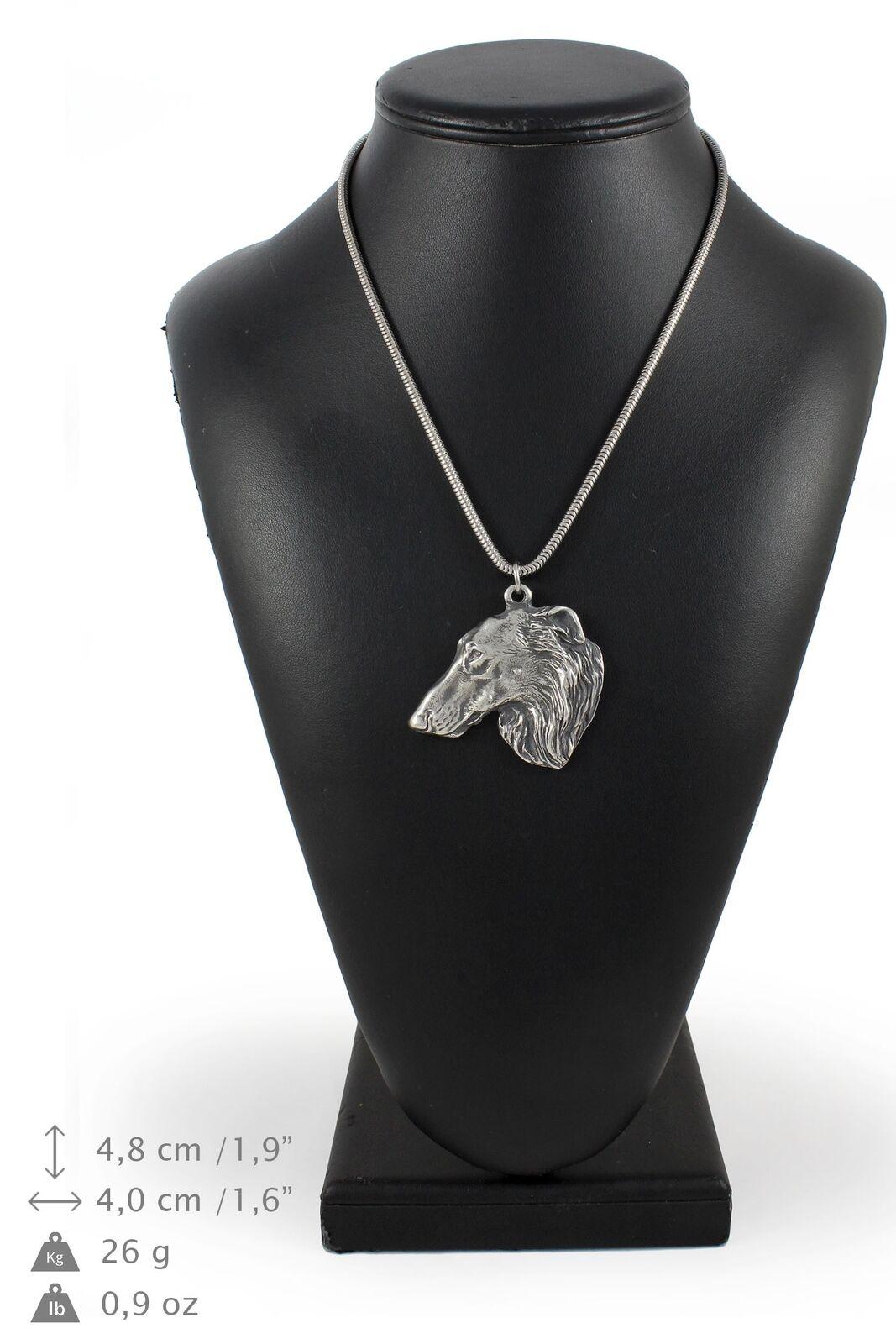 Tackel - argento plaqué collier sur une cordon en argento Art Dog FR