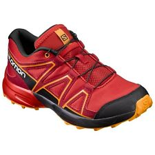 SALOMON SPEEDCROSS J Turnschuh Sneaker ROT - fiery red / black L392383 - Gr. 31