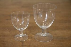 Vintage-Crystal-4-oz-Octogonal-Cut-Stem-Footed-Sherry-Cordial-Glass-3-3-4-034-Tall