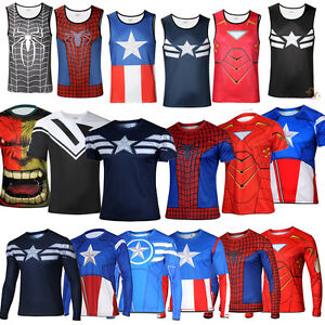 Superhero Comic Compression Cycling Jersey T Shirt Cosplay Costume