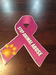 Stop-Animal-Abuse-Awareness-Ribbon-Car-Magnets-dogs-and-puppies