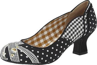 Ruby Shoo PAULA Vintage POLKA DOT Pepitamuster FLORAL Schuhe