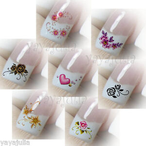 Image Is Loading 35 Nail Art Decal Water Slide Transfer Temporary