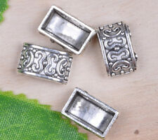 wholesale 40pcs Tibetan Silver nice 2-holes Spacer Beads 13x8.2mm A0127
