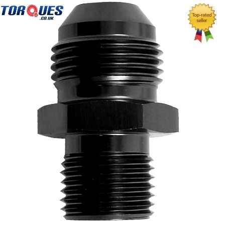 12 AN12 AN to M24 x1.5 Metric Straight Adapter Black