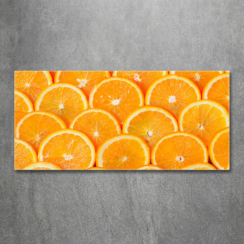 Glas-Bild Wandbilder Druck auf Glas 120x60 Deko Essen & Getränke Orangenscheiben