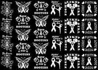 Cancer Awareness Owl Hooters Fight 5x7 Card White Fused Glass Decals 16cc754