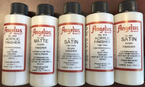 Angelus Finisher for Leather Paints Satin, Gloss, Matte Acrylic Finish 118.2ml