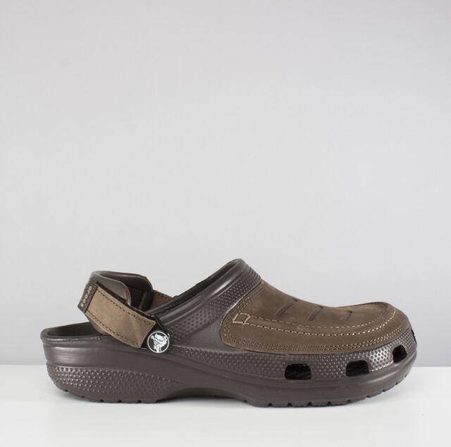 9280f7103c5c Mens Crocs Yukon Vista Clog Leather Uppers Adjustable Heel Strap ...
