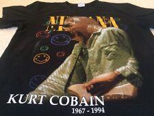Vtg Seattle Rare Nirvana Kurt Cobain RIP T Shirt Grunge Punk Band Men's Large