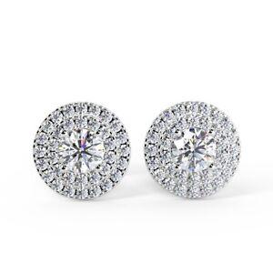 0-60-Ct-Round-Diamond-Double-Halo-Stud-Earring-18k-White-Gold-UK-Hallmarked