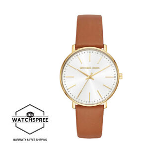 228364c90 Image is loading Michael-Kors-Ladies-039-Pyper-Brown-Leather-Strap-