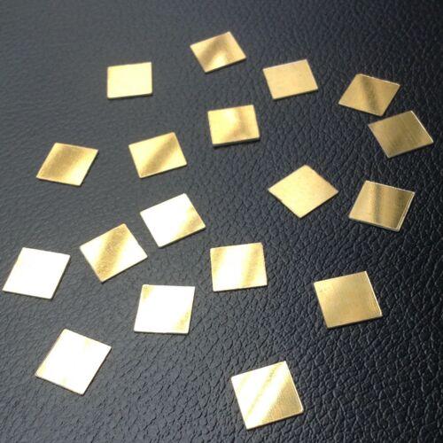 Mosaico de 100 11 mm Cuadrado Plástico Shisha espejos de oro para el bordado Quilting Craft
