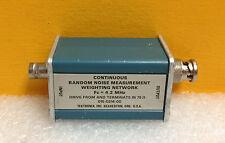 Tektronix 015-0214-00 4.2 MHz Fc, 75 Ohm, BNC, Random Noise Weighting Network.