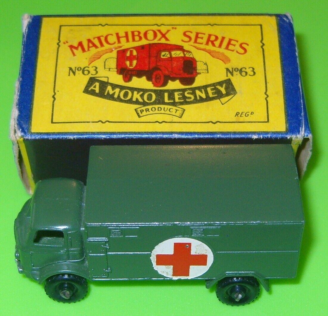 de moda Matchbox-moko 63 Fordson Militar Ambulancia Caja Caja Caja  punto de venta en línea