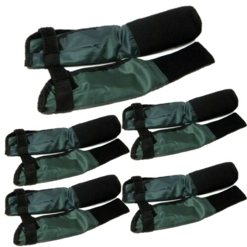 5 X PAIRS OF GREEN DELUXE ROD TIP AND BUTT ROD PROTECTORS CARP FISHING RODS CMS