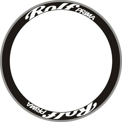 ROLF Road Bike Bicycle Carbon Rim Decals Stickers Set For 2 RIMS 38mm Rim Depth
