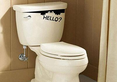 XICA Toilet Monster Hello Bathroom Decal Funny Creative Vinyl Sticker Wall Art