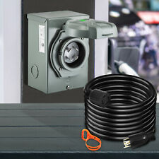 Vevor Rv Power Extension Generator Cord With Inlet Box 30a Power Cord 15ft Cooper