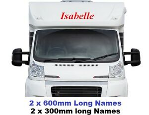 X Personalised Name Decals Stickers Graphics For Campervan - Graphics for caravanscaravan stickers ebay