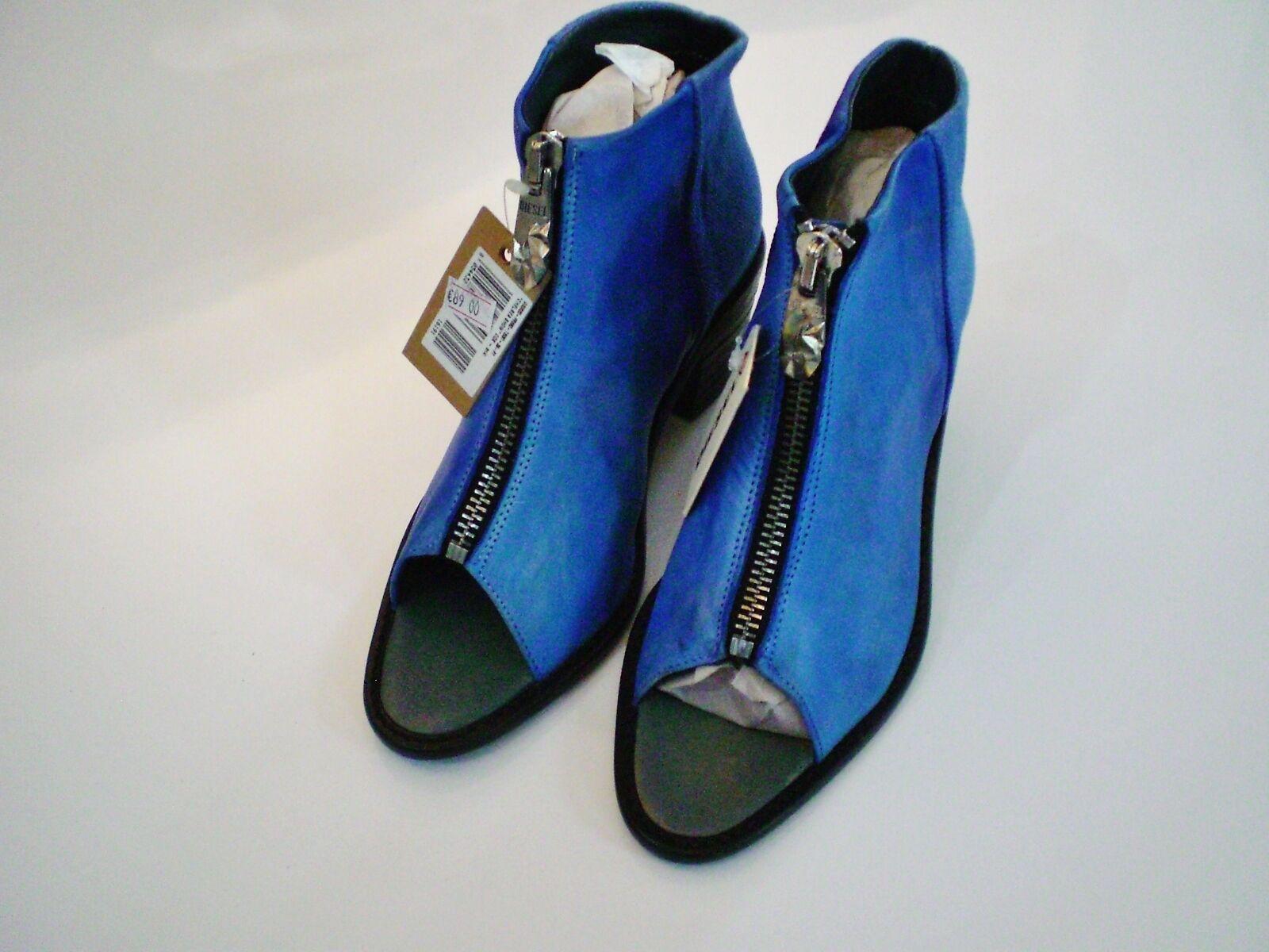Original diesel Zapatos señora chelsea show talla 39 botines de de de cuero vintage nuevo 433f1b