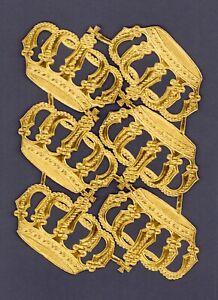 alter-Bogen-6x-Dresdner-Pappe-Papier-Kronen-DIE-CUT-SCRAPS