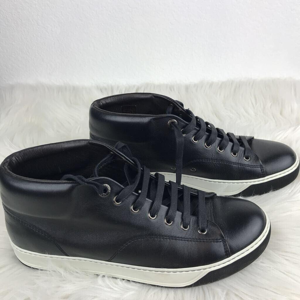 Lanvin Homme Mi Haut Baskets Noir Blanc Lacets Sportif Flats Casual chaussures 9