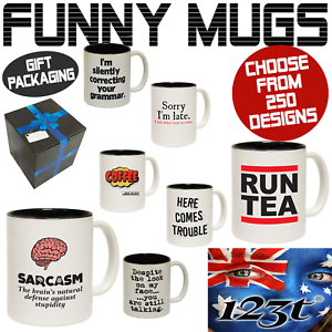 Funny Mugs Novelty Mug - Perfect Birthday Work Office Cup Gifts - GIFT BOXED