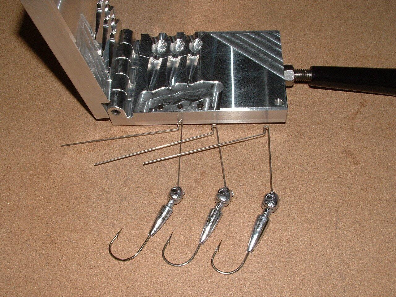 Freshwater Spinnerbait Hidden Weight -12  mold 1 2, 5 8, 3 4 oz CNC Aluminum