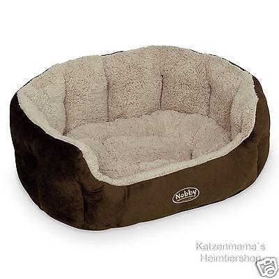 Gut Ausgebildete Komfort Katzenbett Hundebett Kuschelbett Softplüsch Braun/beige Nobby Kamega
