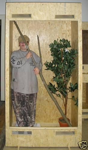 Terrarium 100x80x200 Holzterrarium OSB Holz riesiges Hochterrarium Grüner Leguan