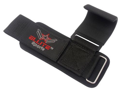 ***ELLITE Sports Power Weight Lifting Training Gym Straps Hook bar Wrist Support