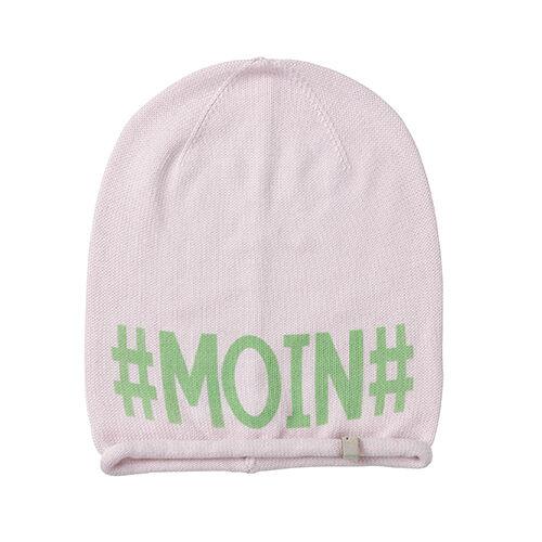 (m82) Feinstrick Mütze Freaky Heads Beanie Leichte Wintermütze Mit #moin# Druck L'Ultima Moda