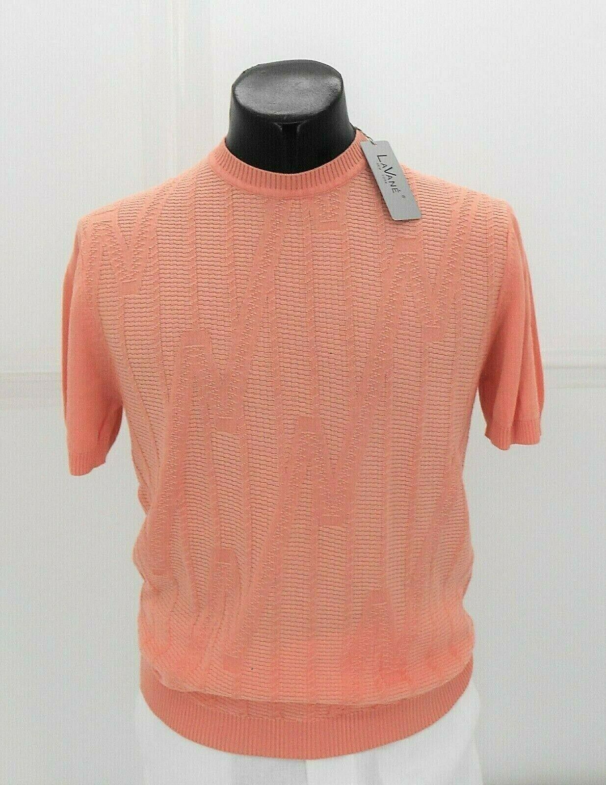 Lavane Men's Peach Light Weight Short Sleeve Sweater