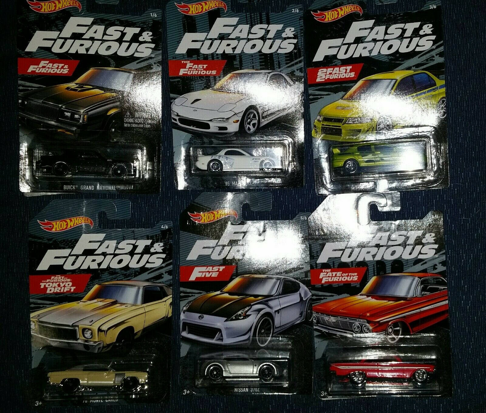 2019 Hot Wheels Fast And Furious Walmart exclusive 10 Car Case