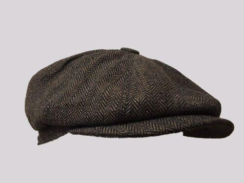 8 PANEL BAKERBOY,NEWSBOY,PEAKY BLINDER FLAT CAP 1920S CABBIE,cheese cutter FLAT