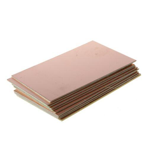 10pcs FR4 Stratifie platine cuivre de cote unique recouvert de fibre de PCB K P8