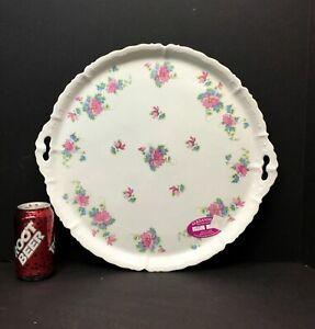 "Antique 17"" Charger C.A. ALTROHLA Austria Floral serving plate platter tray"