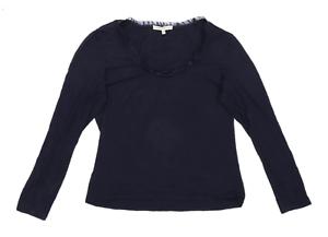 Laura-Ashley-Womens-Size-16-Cotton-Blend-Blue-Top-Regular