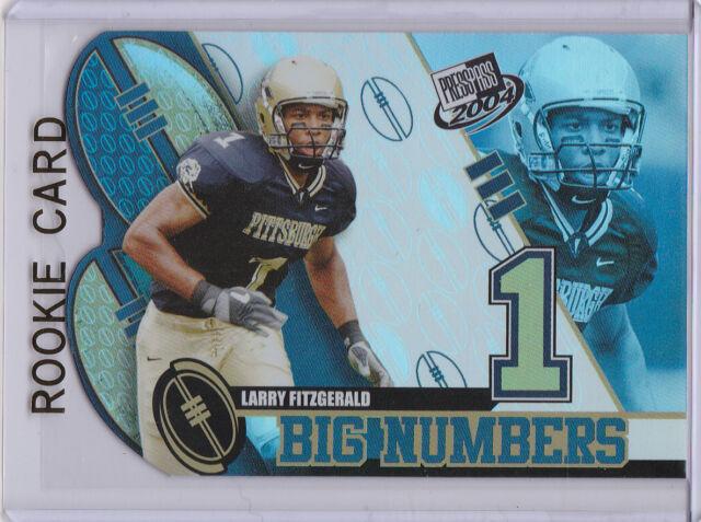 LARRY FITZGERALD 2004 ROOKIE CARD Big #'s Football Insert DIE-CUT RC CARDINALS!