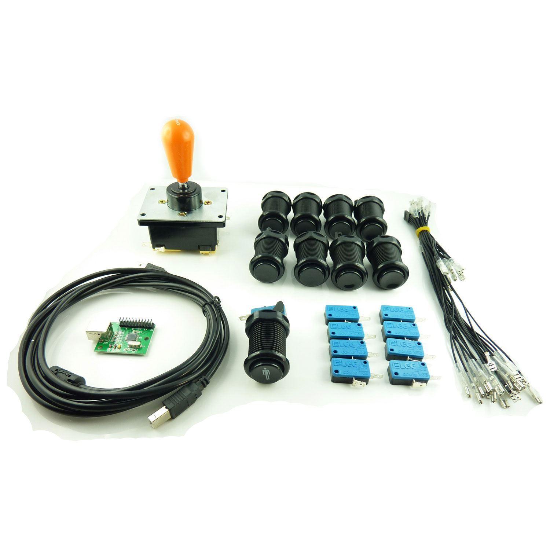 Kit Joystick COREANO Arcade 1 jugador Pera Botones Americanos Color Negro