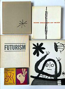1958-1961-MOMA-Abrams-Miro-Futurism-New-Images-of-Man-5-Vintage-Art-Books-HC