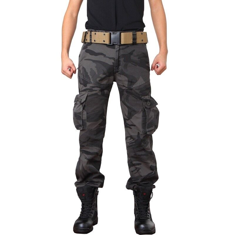 Men Military Army Trouser Cotton Fighting Tactical Camo Pants Cargo Work Ripstop