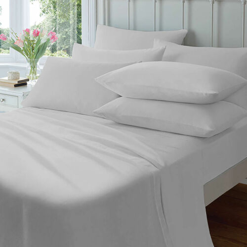 PLAIN DYED LUXURY 200 THREAD COUNT EGYPTIAN COTTON COT BED FITTED SHEET 70X140